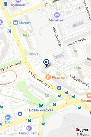 Онежская на карте Екатеринбурга