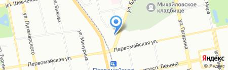 Navitola на карте Екатеринбурга