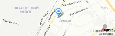 Магнит на карте Екатеринбурга