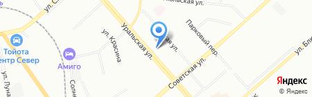 Гейзер-Урал на карте Екатеринбурга