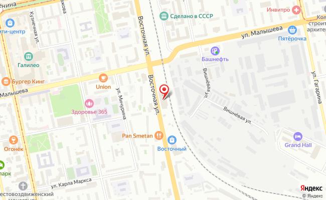 Карта расположения пункта доставки СИТИЛИНК в городе Екатеринбург