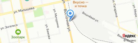 Шиномонтаж для народа на карте Екатеринбурга