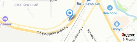 Управление Федеральной службы государственной регистрации на карте Екатеринбурга