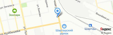 БПА-ИНФО на карте Екатеринбурга