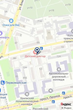 Единая Россия на карте Екатеринбурга