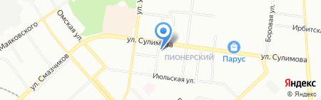 Кран-Ек на карте Екатеринбурга