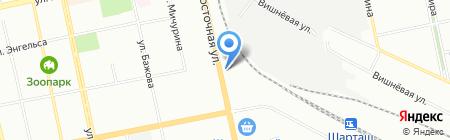 Рефтяночка на карте Екатеринбурга