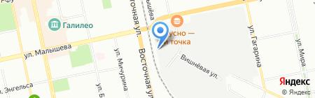 Регион-возрождение на карте Екатеринбурга