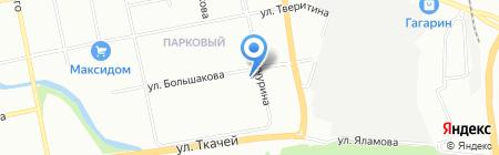 Аврора на карте Екатеринбурга