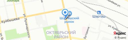 А2 на карте Екатеринбурга