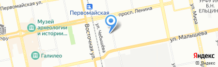 Импульс на карте Екатеринбурга
