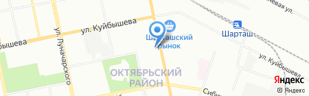 Свердловская птицефабрика на карте Екатеринбурга