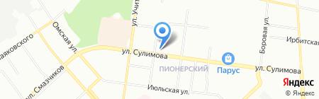 Голдис на карте Екатеринбурга