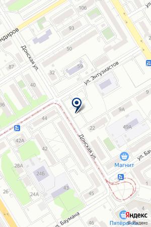 Автостоянка наДонской 22а на карте Екатеринбурга