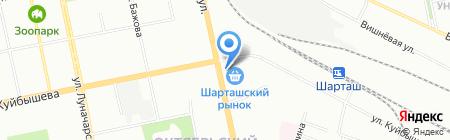 Маслодел на карте Екатеринбурга