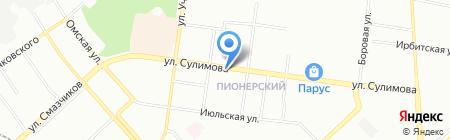 Ирис на карте Екатеринбурга