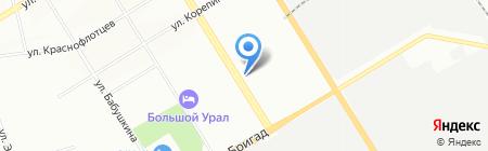 Уралснаб на карте Екатеринбурга