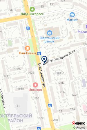 Магазин продуктов на Восточной на карте Екатеринбурга