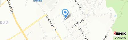 Уральская гвардия на карте Екатеринбурга