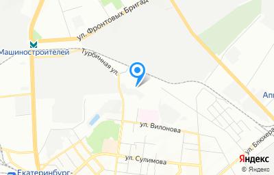 Местоположение на карте пункта техосмотра по адресу г Екатеринбург, ул Учителей, стр 38А
