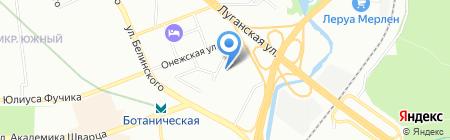 Корадо-Урал на карте Екатеринбурга