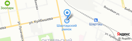 Оазис на карте Екатеринбурга