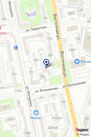 Луч на карте Екатеринбурга