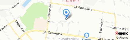 Строитель на карте Екатеринбурга