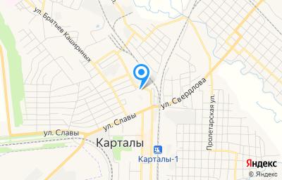 Местоположение на карте пункта техосмотра по адресу Челябинская обл, г Карталы, пер Нефтебазный, д 2З