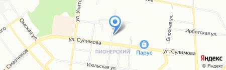 Лучезар на карте Екатеринбурга