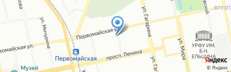 Почтовое отделение №62 на карте Екатеринбурга