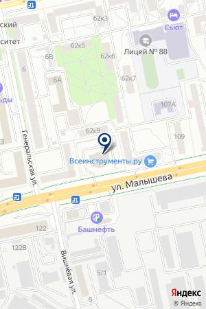ГРАФФО на карте Екатеринбурга
