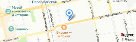 Уралтехэнерго на карте Екатеринбурга
