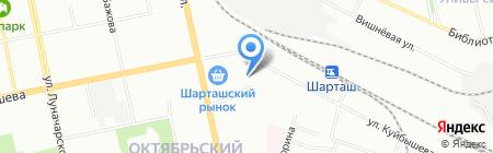 Андорра Ла Велла на карте Екатеринбурга