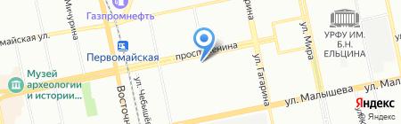 МАЛАХИТ на карте Екатеринбурга