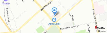 Мята на карте Екатеринбурга
