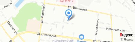 Эффективные системы и сети на карте Екатеринбурга