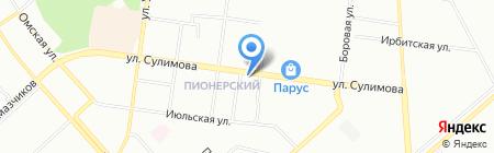 Русская рыбалка на карте Екатеринбурга