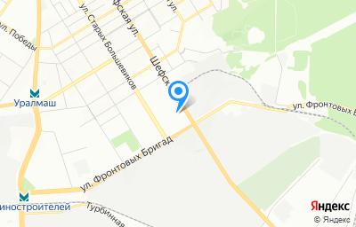Местоположение на карте пункта техосмотра по адресу г Екатеринбург, ул Старых Большевиков, д 2А
