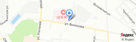 Поликлиника №1 на карте Екатеринбурга