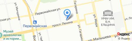 Иллюминатор на карте Екатеринбурга