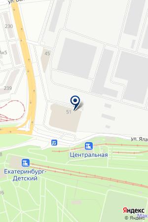 Абзац на карте Екатеринбурга
