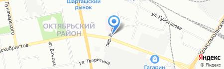 Электропроект на карте Екатеринбурга