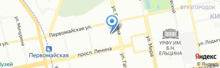 Велес Трэвел на карте Екатеринбурга
