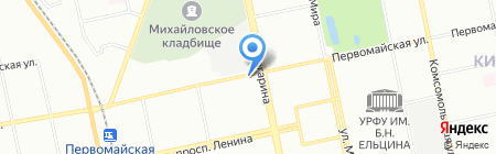 Детская музыкальная школа №3 на карте Екатеринбурга