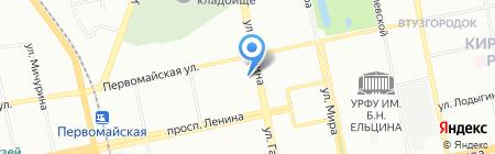 Еврооборудование на карте Екатеринбурга