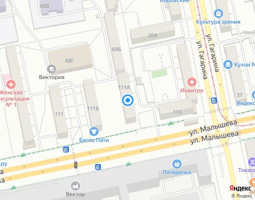 Жилищно-строительный кооператив «ПЖЭК №58» на карте Екатеринбурга