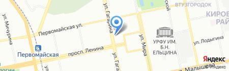 Банк Интеза на карте Екатеринбурга