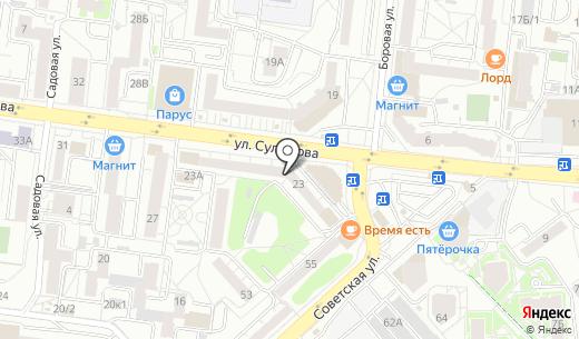 Адвокатский кабинет Кощеева А.И.. Схема проезда в Екатеринбурге