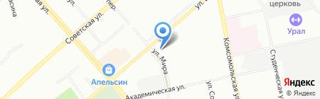 Банкомат Уральский банк реконструкции и развития на карте Екатеринбурга